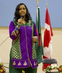 NDP MP Rathika Sitsabaiesan speaks at the event.