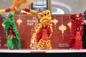 Lion dance parade by the Wushu International College of Canada was a crowd pleaser, grabbing the attention of both children and adults.