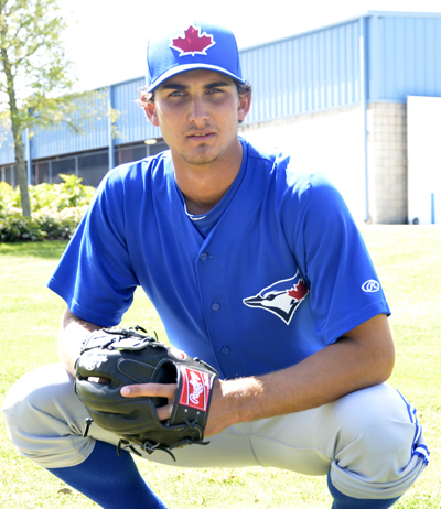 Blue Jays' pitching prospect Chase DeJong brings a 94-mph fastball to his game.