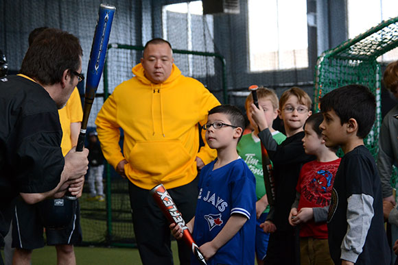 Clinics in Scarborough help to grow the game and get the young ball players interested.