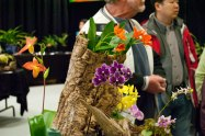 This display showed an artistic side to the art of orchids.