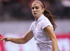 Alex Morgan scored twice for the United States on Sunday against Canada.