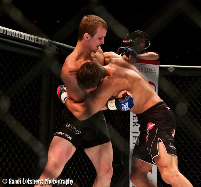 Canadian Lightweight prospect defends the takedown