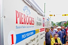 There were lineups for almost every food vendor at the festival, especially those selling pierogies.