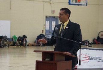 Gosal expressed his hope that young Canadians with disabilities will continue to draw inspiration from wheelchair basketball athletes.