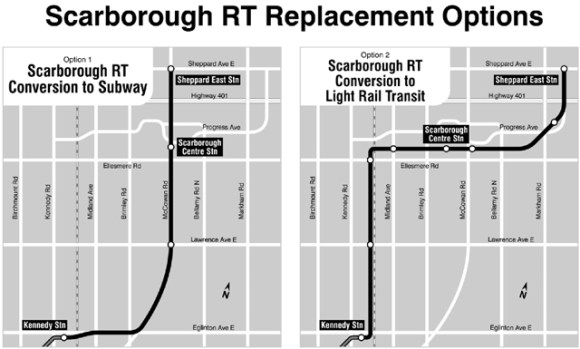 Scarborough RT replacement options.