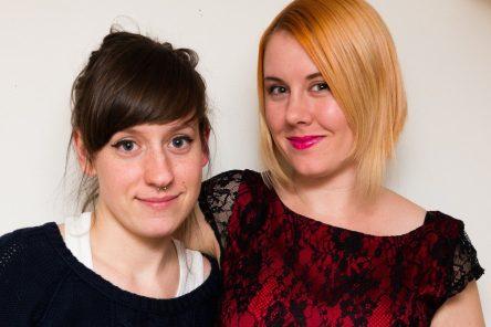Comic book historians Rachel Richey and Hope Nicholson.