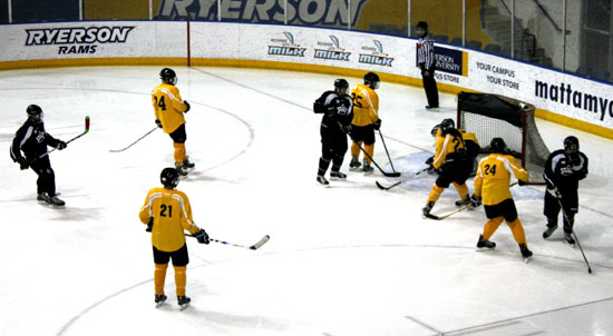 Courage Canada is the annual hockey tournament staged each year to showcase  the skills of players who are blind or partially sighted.