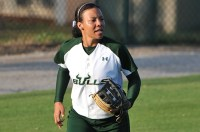 D'Anna Devine played both outfield and infield for the Bulls in 2014. Photo: USF