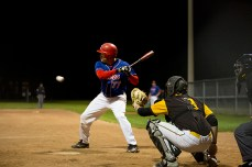 Nate Tennant, left, was one of only two batters to reach base twice on Thursday night.
