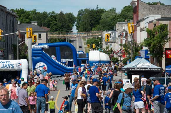 The 2014 Induction Day street festival saw St. Marys' tiny downtown jammed with baseball fans.