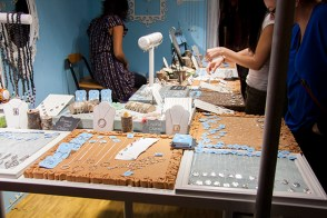 Handmade jewellery abounds at the show.