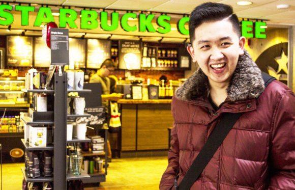 Starbucks manager Joseph Huynh (photo by Sonya Nov-San)