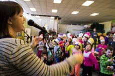 Children danced to the music of musical guests, Sing Along Tim