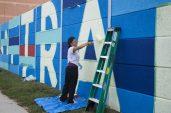 'Transitions' assistant painter, volunteer coordinator and artist, Vero Diaz