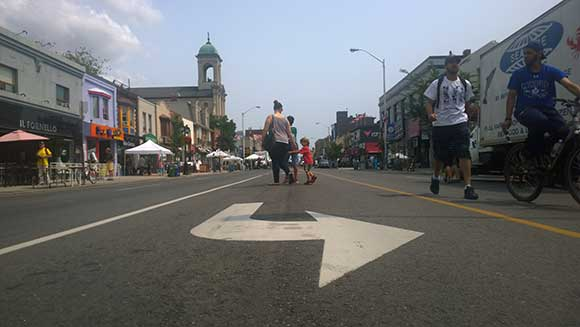 A photo by local photographer, Susan Drysdale, at The Taste of Danforth Arrow.