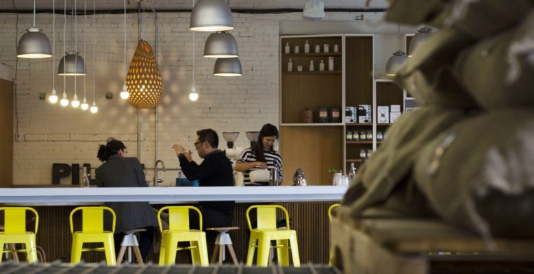 Pilot Coffee Roasters in-house coffee bar