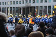 Marching bands serenaded the crowd.