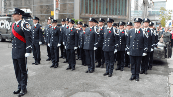 Toronto Fire Services pay respect alongside Toronto Police and Paramedics