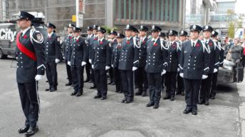 Toronto Fire Services pay respect alongside Toronto Police and Paramedics