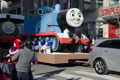 Childhood friends like Thomas the Tank Engine were featured in the celebration.