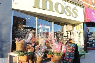Local store Moss features beautiful, higher-end decorations.