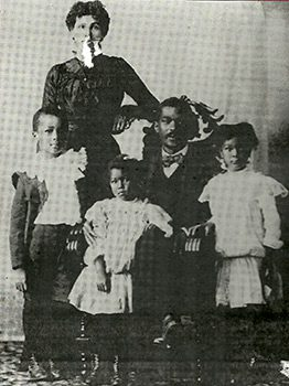 Charles and Chestina Duval with their children, c. 1900