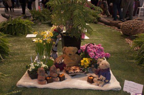 Trudy Granthum's Teddy Bear's Birthday Picnic won a second place award.