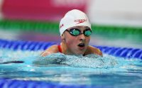 Samantha Ryan swimming at the 2015 IPC Worlds.