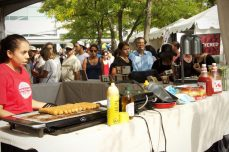 Vegan sausages are featured at the Toronto's Veg Food Fest.