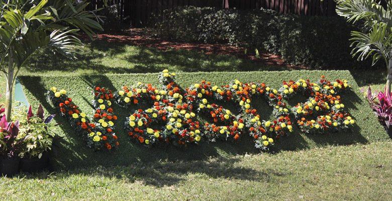 Flowers spelling Valspar