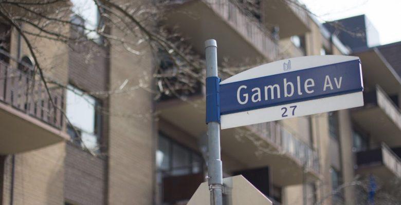 Gamble Avenue street sign