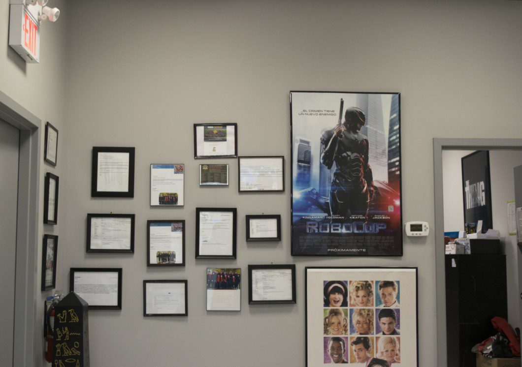 Interior of MK picture cars office space