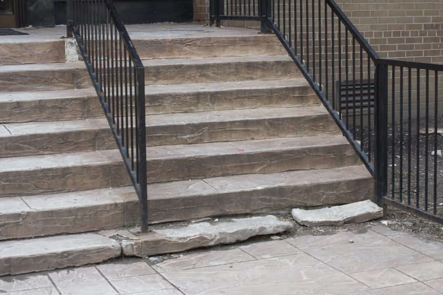 damaged exterior stairs
