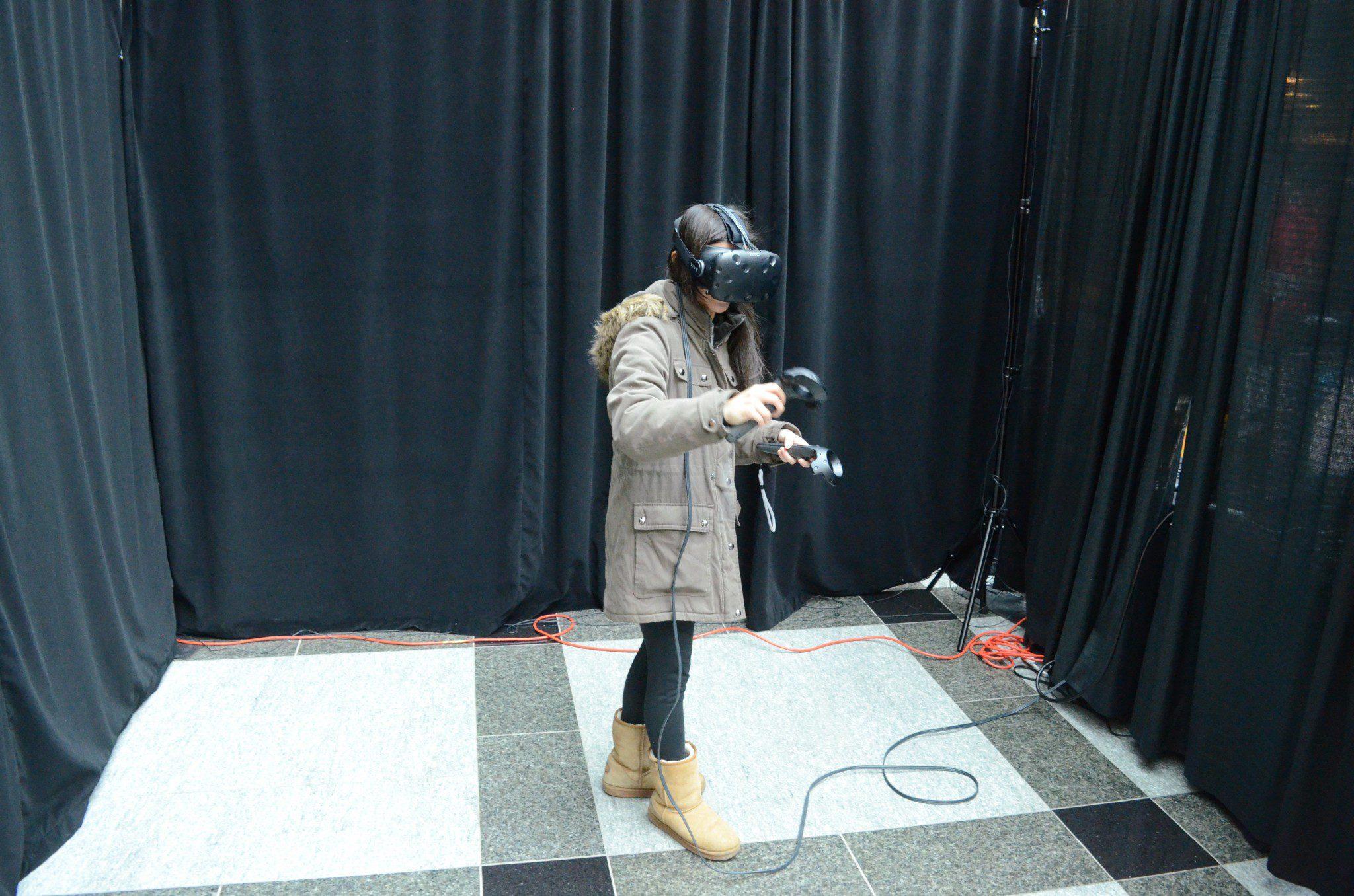 girl in VR gear
