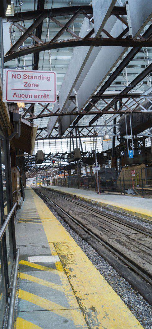 GO rail tracks