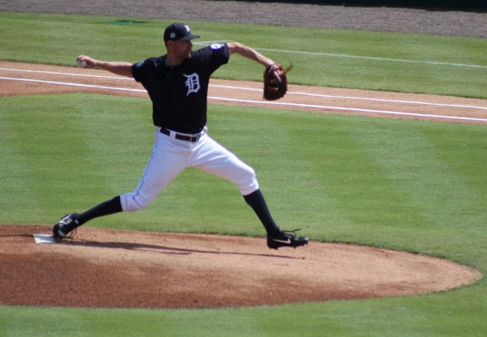 Detroit Tigers pitcher Mike Pelfrey