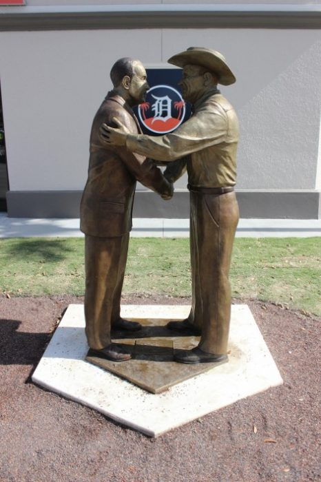 statue of Joker Marchant and George Jenkins