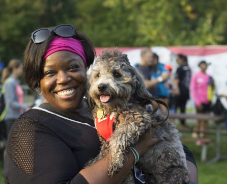 Treasure Lidgister, 41 participates in the walk every year to bring awareness to the community.