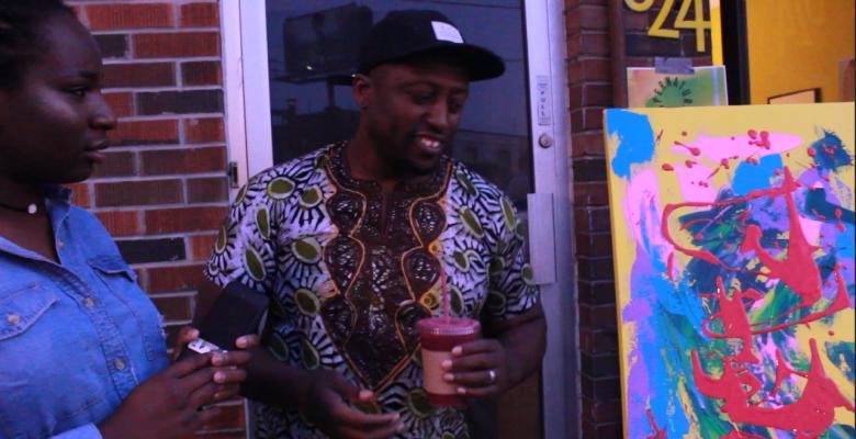 Ghanaian artist in Toronto