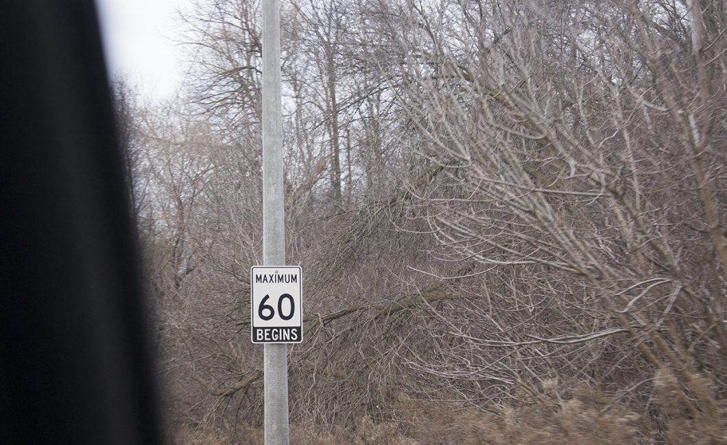 Speed limit sign at 60km/h