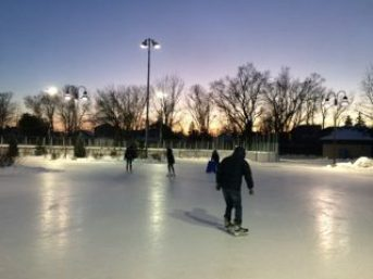 Skating rink at Dieppe Park