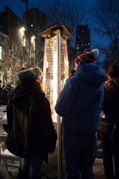 Cold temperatures were not the problem at LGBTQ community vigil Tuesday evening.