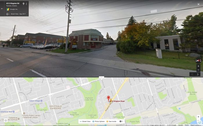 A map and street view image of Idlewood Inn.