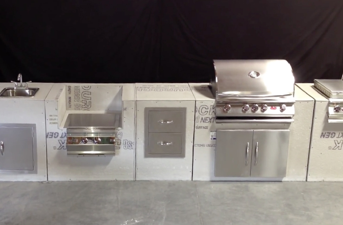 DIY / MODULAR BASES, FRAMING AND STAINLESS STEEL / ALUMINUM / POLYMER CABINETS