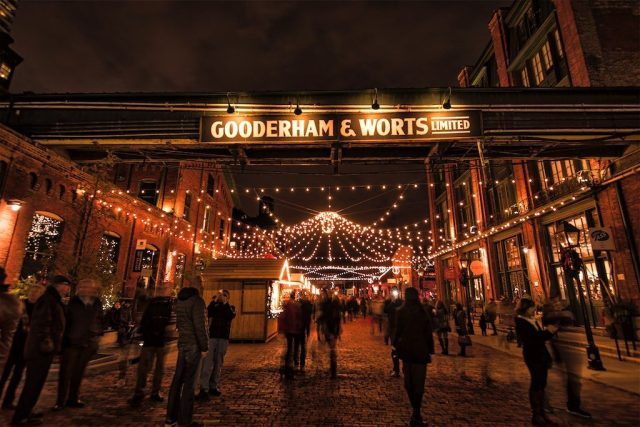 Distillery District At Christmas