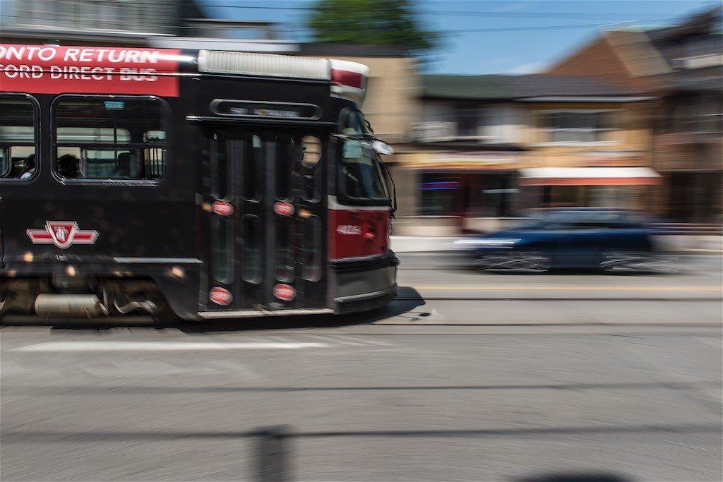 TTC Streetcar Panning Shot