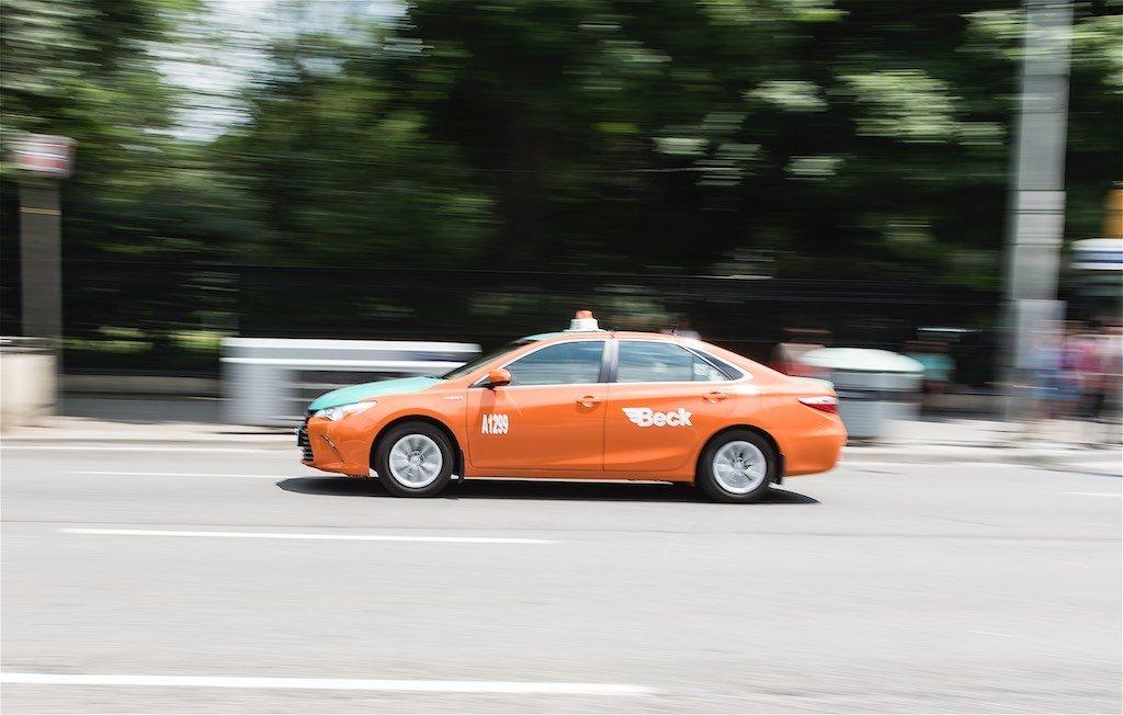 Panning Shot of Taxi