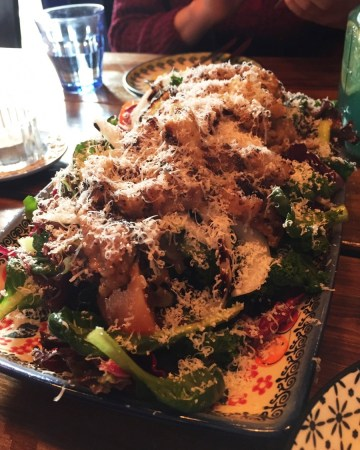 Blu Cucina Italian Restaurant Mangwon Seoul Korea Toronto Seoulcialite Date Spot Seoul Hongdae Green Salad with Fresh Vegetables and Thinly Sliced Beef