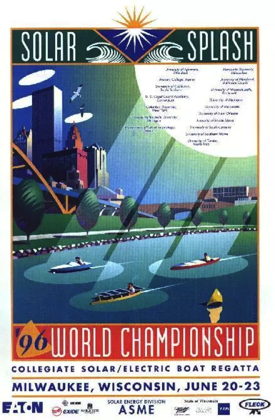 Poster from the 1st Solar Splash, 1994
